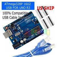 1X UNO R3 MEGA328P ATMEGA16U2 Development board for Arduino + USB Cable
