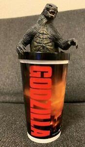 Godzilla Figure w/ Drink Cup From GODZILLA 2014 Movie Theater Exclusive Tumbler