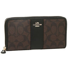 NWT F54630 Authentic COACH Signature PVC Leather Accordion Wallet in Brown/Black