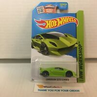 Lamborghini Sesto Elemento #198 * GREEN * 2015 Hot Wheels * G29