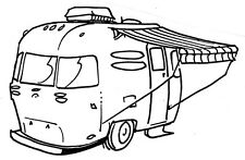 Unmounted Rubber Stamp, Rubber Stamps Set, Camping, Camper, RV Stamps, Dogs