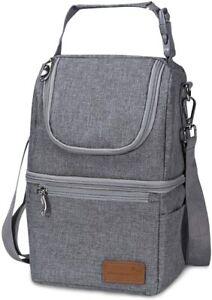 Momcozy Insulated Baby Bottle Bag, Multi-Function Breastmilk Cooler & Lunch Bag