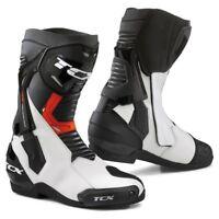 STIVALI BOOTS MOTO SPORT RACING TCX ST-FIGHTER WHITE RED BLACK TORSION TG 44