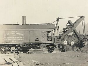 Steam Shovel Gillespie Company NY Pittsburgh Mounted Photograph