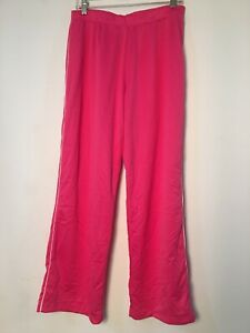 Athletic Works Pink Track Pants White Stripe Large 12 14 Work Out Active Wear