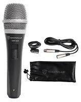 Rockville RMP-XLR Dynamic Cardioid Professional Microphone W/10' XLR Cable+Clip