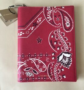 BURBERRY PRORSUM BOOK COVER-PRINT LEATHER COVERED A5 NOTEBOOK BNWT