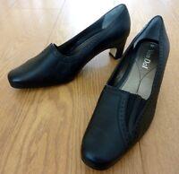 Van Dal WINONA Ladies Black Leather Slip on Court Shoes Size UK 4.5 EU 37.5
