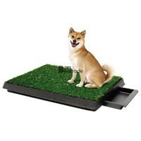 Indoor Dog Pet Potty Training Toilet Portable Loo Clean Pad Tray Grass Mat BT7E