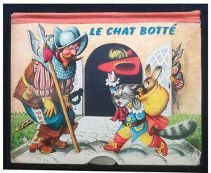 Album POP UP (8 Tableaux) ~ LE CHAT BOTTE ~ Del Duca / Artia 1959