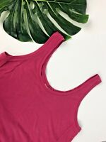 Old Navy Woman's Tank Top Sleeveless Side Slits Pink Size S