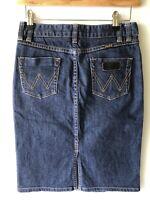 Wrangler •Seattle• 9510 Womens Denim Straight Skirt Dark Blue Size 10