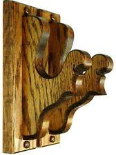 Oak Wooden Gun Rack Hangers Fancy Antique Rifle Shotgun Sword Wall Mount Display