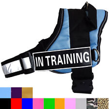 Reflective Service Dog In training Vest Harness Coat with Removable Patches