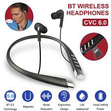 Wireless Bluetooth TF Neckband Sport Earphone HD Stereo Noise Reduction Earbuds