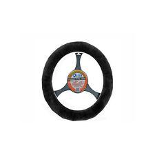 LUXURIOUS AUS Sheepskin Steering Wheel Cover black