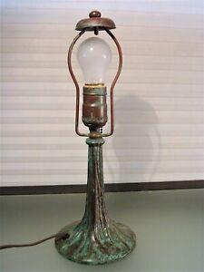 Vintage Tree Trunk Leviton Lamp Verdigris Patina Bronze?