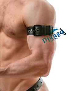 Premium Quality Brand New Black Leather Bicep strap - Gay Interest Clubbing