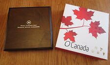 2013 O Canada Set 99.99% Pure Silver $25 1 Ounce Coins*5 Coins With Wooden Box
