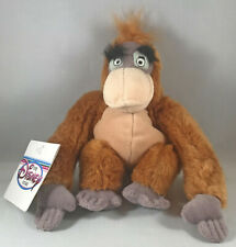 """Vintage 8"""" KING LOUIE Plush BEAN BAG with Tag, The Disney Store, The Jungle Book"""