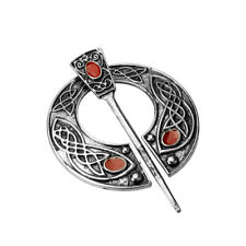 CELTIC VIKING ANTIQUE SILVER VINTAGE PENANNULAR BROOCH SHAWL/KILT/SCARF PIN