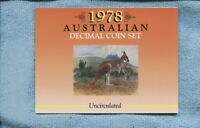 1978 Mint Coin Set Uncirculated UNC Sherwood Australia