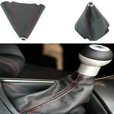 New Shift Knob Shifter Boot Cover Black With Red Stitches PVC Leather For Ford