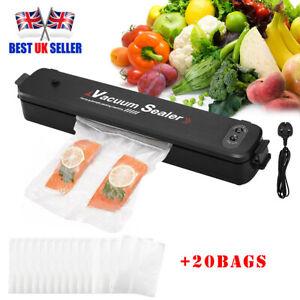 3 In1 Vacuum Food Sealer Automatic Manual Dry&Wet Pack Machine+20 Bags UK