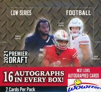 2021 Sage Hit Premier Draft Football Factory Sealed HOBBY Box-16 AUTOGRAPH RCS