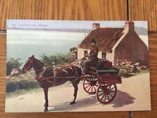 POSTCARD UNUSED- IRELAND--JAUNTING CAR SEATS 4 AND A DRIVER