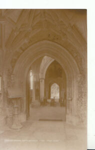 Essex Postcard - Thaxted Church - North Entrance - Real Photograph - Ref 14673A