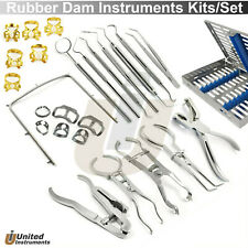 Endodontic Complete Kits Dental Rubber Dam Instruments Sets Brinker Clamp Pliers