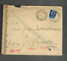 1944 Sarnico Italy Socialist Republic censored cover to Switzerland Red Cross