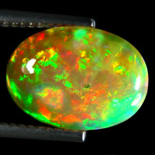 2.44 ct  Mesmerizing Fire Sparkling 100%Natural Rainbow Flashing Ethiopia Opal