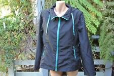 BLACK HOODIE Jacket Lightweight Zip Removable Sleeves Size L-16 NEW RRP$59.99
