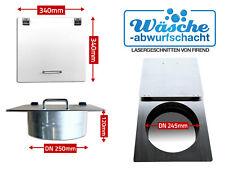 Wäscheabwurfschacht Tür Wäscheschacht Wäscheabwurf Klappe DN 250 mm Edelstahl