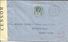 Mauritius SG#258(single frank)PORT LOUIS CENTRE 18/AP/42-WWII CENSOR