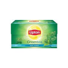 Lipton Mint Burst Green Tea Bags, 25 Pieces original product free ship