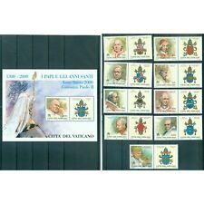Vatican 2000 - Mi. n. 1327/1335 + 1336 Bl. 21 - Papes et Années Saintes du 1300