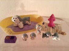 Vintage LPS Littlest Pet Shop Mommy & Baby Puppies 1993