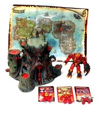 GORMITI Lords of Nature grande apertura volcanotoy PLAYSET W / FIGURE Map & CARDS
