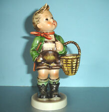 "Hummel Goebel Village Boy w/Basket Figurine #51/0 Tmk5 6.25""H Tarrytown Archive"