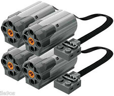 4 Lego Power Functions M-Motors  (technic,car,truck,axle,gear,tire,pulley,wheel)