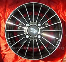 """4 CERCHI IN LEGA DA 12"""" FIAT 126 500 GRIFO NERO DIAMANTATO TUNING 4½ X 98"""