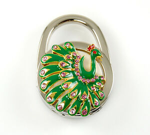 "Stylish Foldable Handbag Holder ""Peacock"" Purse Hook"