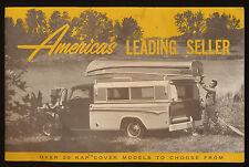 1968 Winnebago KAP Pick Up Covers Sales Brochure / Catalog