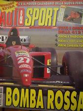Auto & Sport ROMBO 6 1995 Poster calendario della nuova FERRARI 412 T2