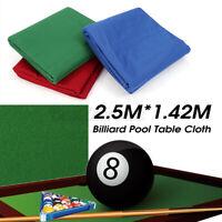 New Premium Pool Table Cloth 9ft Table Teflon Billiard Felt w// PRE-CUT RAILS