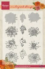 Marianne Design Layered Clear Stamp - Chrysant - TC0858