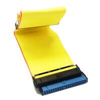 1 Pcs 40 Pins 80 Wire PATA/EIDE/IDE Hard Drive DVD Ribbon Cable Yellow 40cm